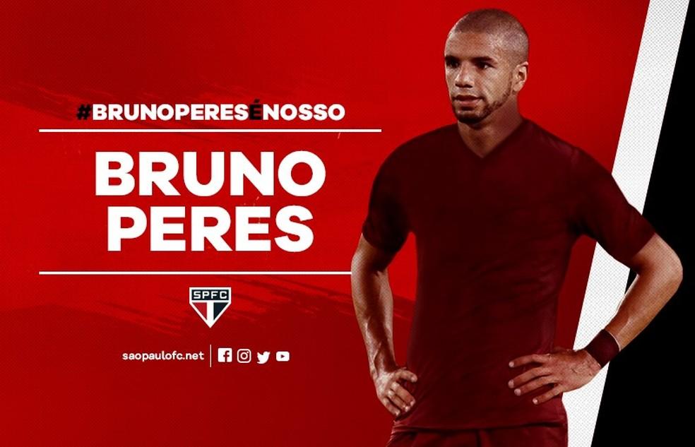 São Paulo anunciou a contratação de Bruno Peres na última semana (Foto: Divulgação)