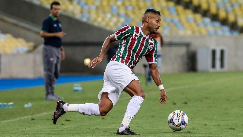 Mateus Gonçalves disputou só oito jogos e não fez gols pelo Flu — Foto: Lucas Merçon / Fluminense FC