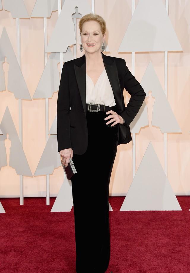 Meryl no Oscar 2015, vestindo Lanvin (Foto: Getty Images)