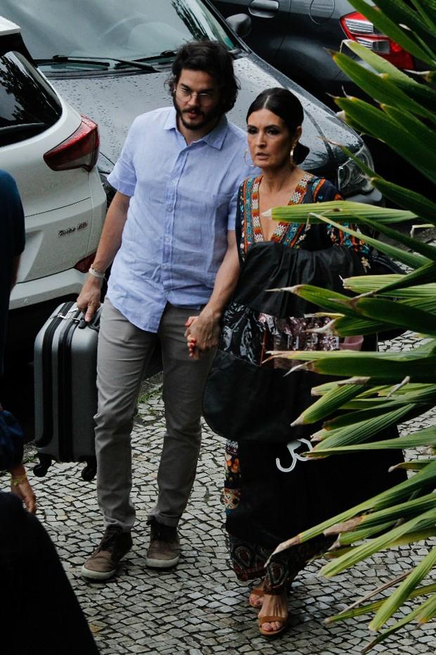 Fátima Bernardes e Túlio Gadelha (Foto: Wallace Barbosa e Daniel Pinheiro/AgNews)