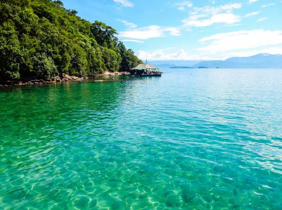 Lagoa Verde, na Ilha Grande — Foto: Divulgação/ Ilha Grande