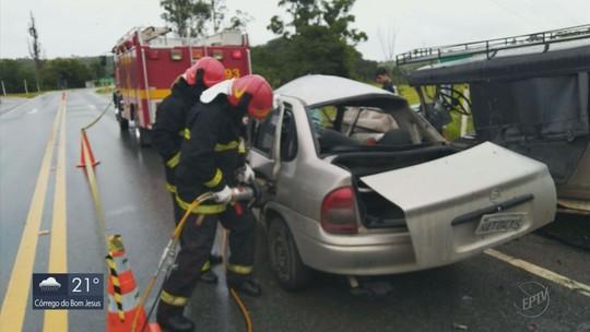 Batida de frente entre carros mata passageira e deixa 3 feridos em Itutinga, MG