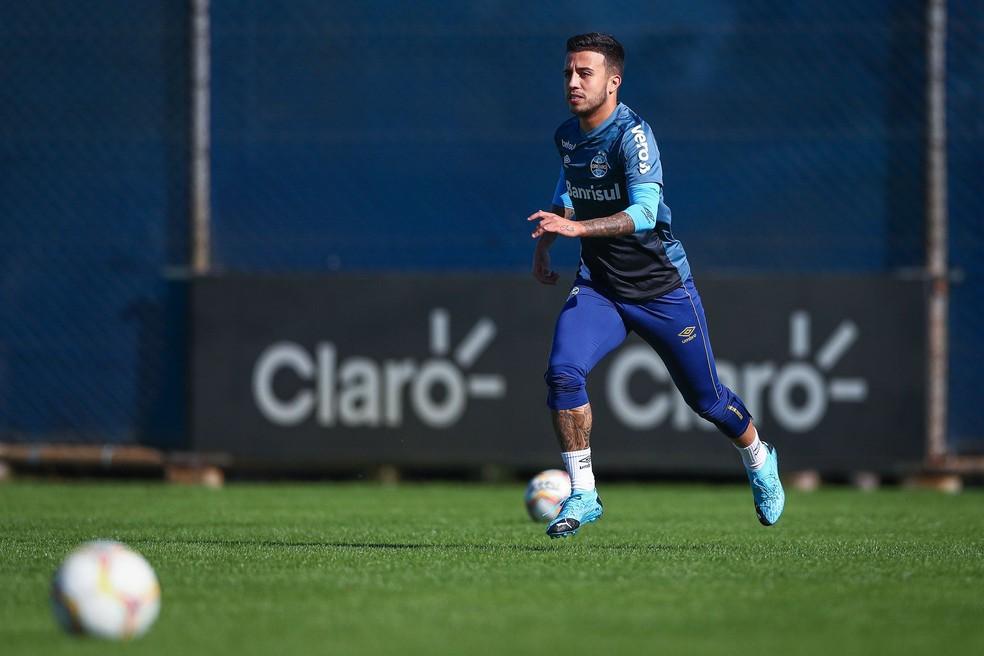 Matheus Henrique, volante do Grêmio — Foto: Lucas Uebel/Grêmio FBPA