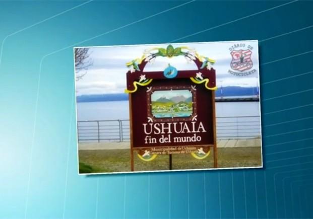 Ushuaia, na Argentina, é considerada cidade no fim do mundo por estar mais próxima ao Pólo Sul (Foto: Reprodução/TV Tribuna)