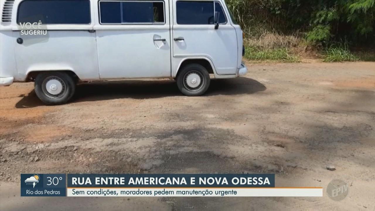 Problemas em rua entre Americana e Nova Odessa gera transtornos e perigo a motoristas