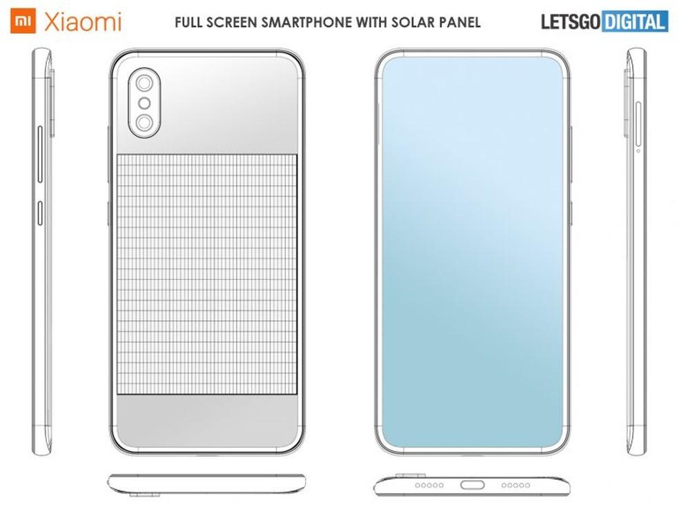 Documentação da Xiaomi sugere um aparelho de linhas bem contemporâneas — Foto: Reprodução/LetsGoDigital