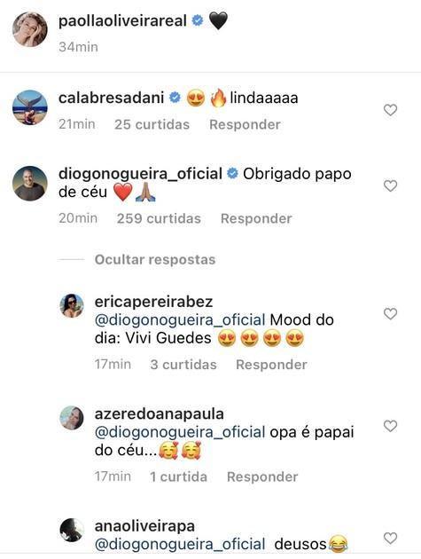 Comentários na foto de Paolla Oliveira (Foto: Reprodução)