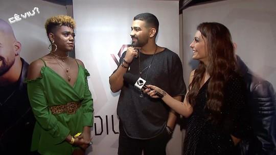 Cecília Ribeiro e Maycon Nutella entrevistam Dilsinho no Festeja Juiz de Fora