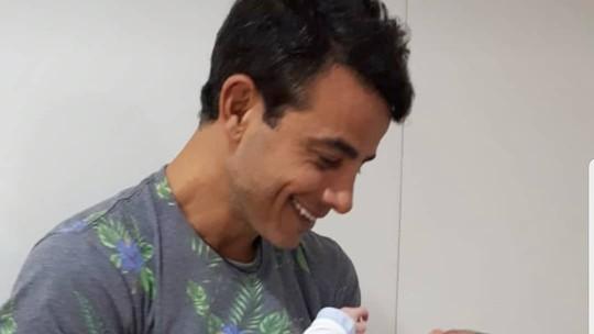 Anderson Di Rizzi festeja a chegada do segundo filho e famosos parabenizam