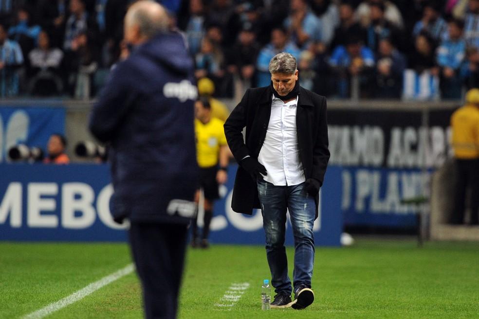 Renato Gaúcho em derrota do Grêmio para o Palmeiras — Foto: Wesley Santos/Press Digital
