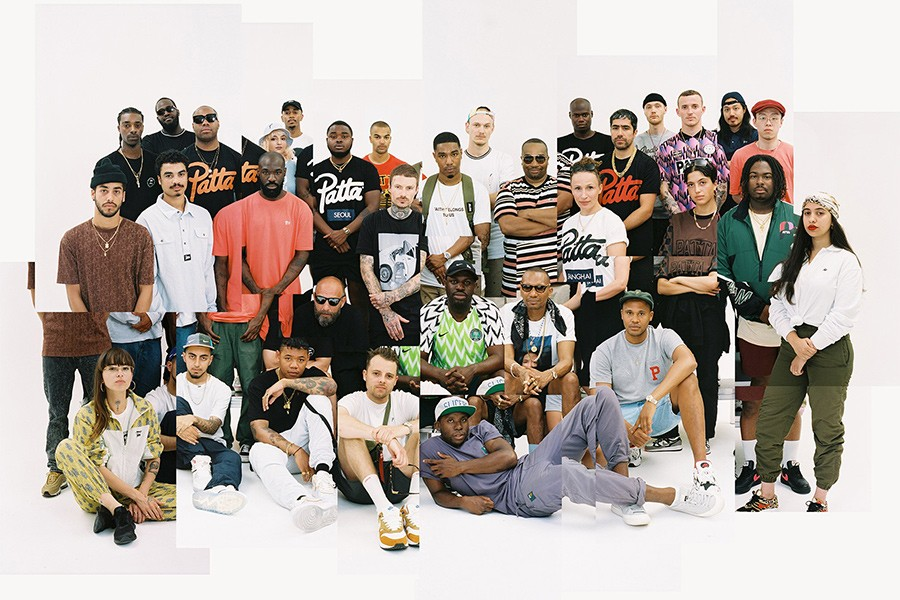 Equipe da Patta junto a seus fundadores, Guillaume Schmidt e Edson Sabajo (Foto: Reprodução)