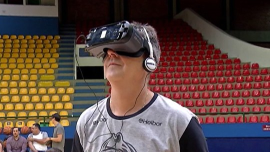 Mogi apresenta projeto de realidade virtual para elenco e torcedores; assista
