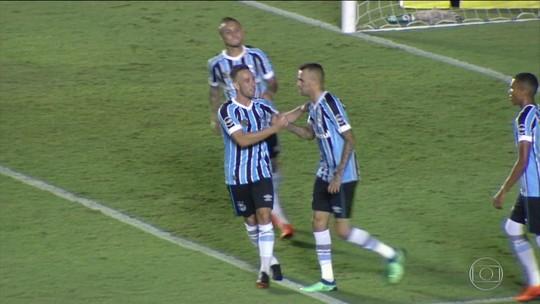 Grêmio vence o Goiás no primeiro jogo das oitavas de final da Copa do Brasil