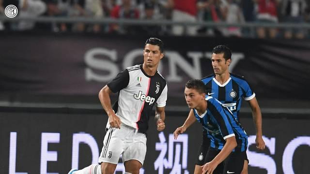Cristiano Ronaldo em ao pela Juventus contra Inter