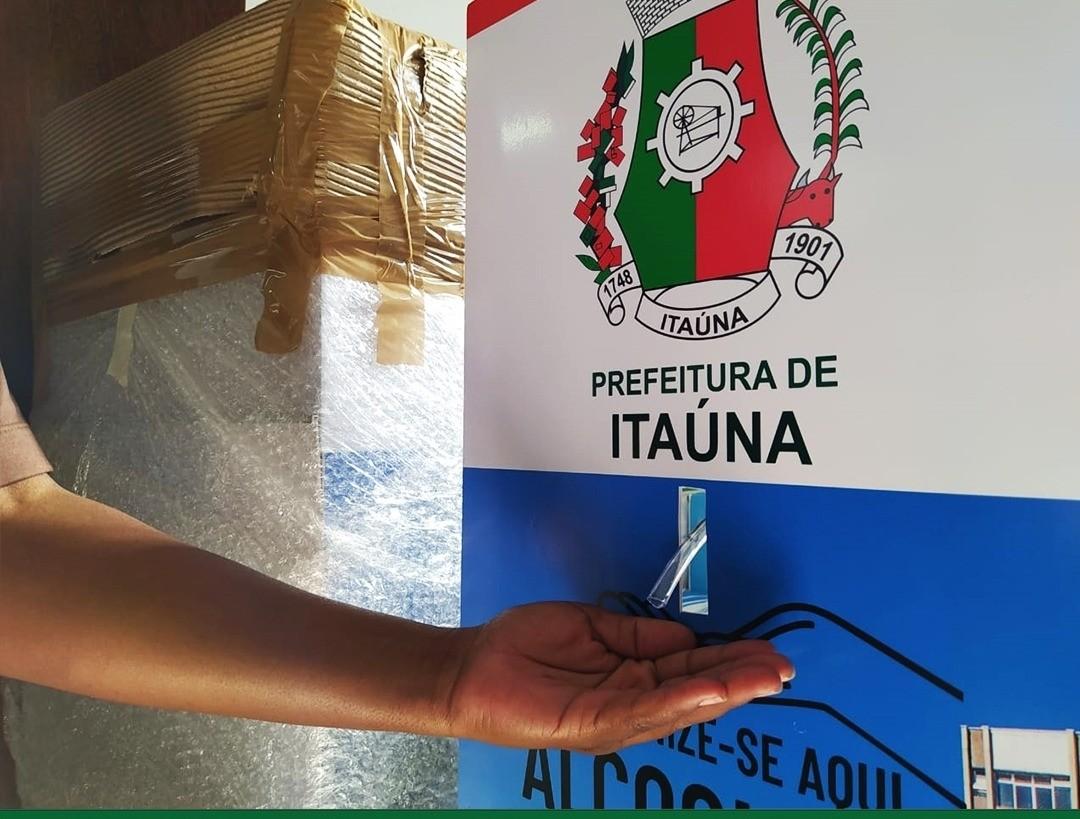 Totens com álcool em gel para higienização das mãos serão instalados nas Unidades de Saúde em Itaúna