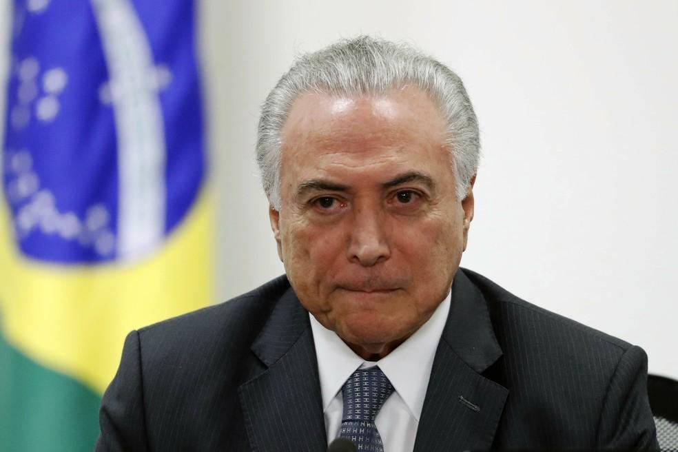 O presidente Michel Temer (MDB), em foto de 5 de setembro, em reunião no Palácio do Planalto, em Brasília — Foto: Francisco Stuckert/Agência F8/Estadão Conteúdo