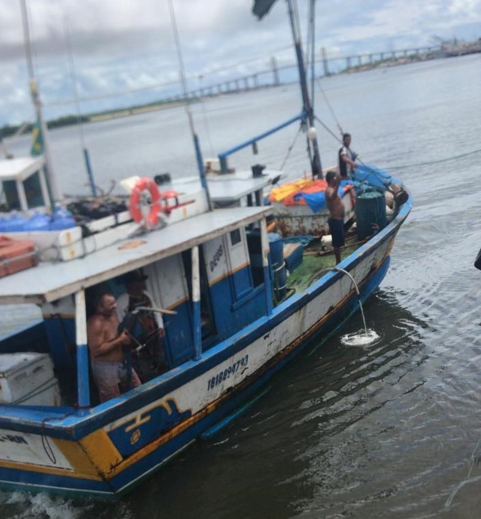 Embarcação 'Matheus F' desapareceu após deixar Natal — Foto: Cedida