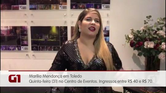 Shows com Marília Mendonça, Fernandinho e orquestra sinfônica movimentam o oeste