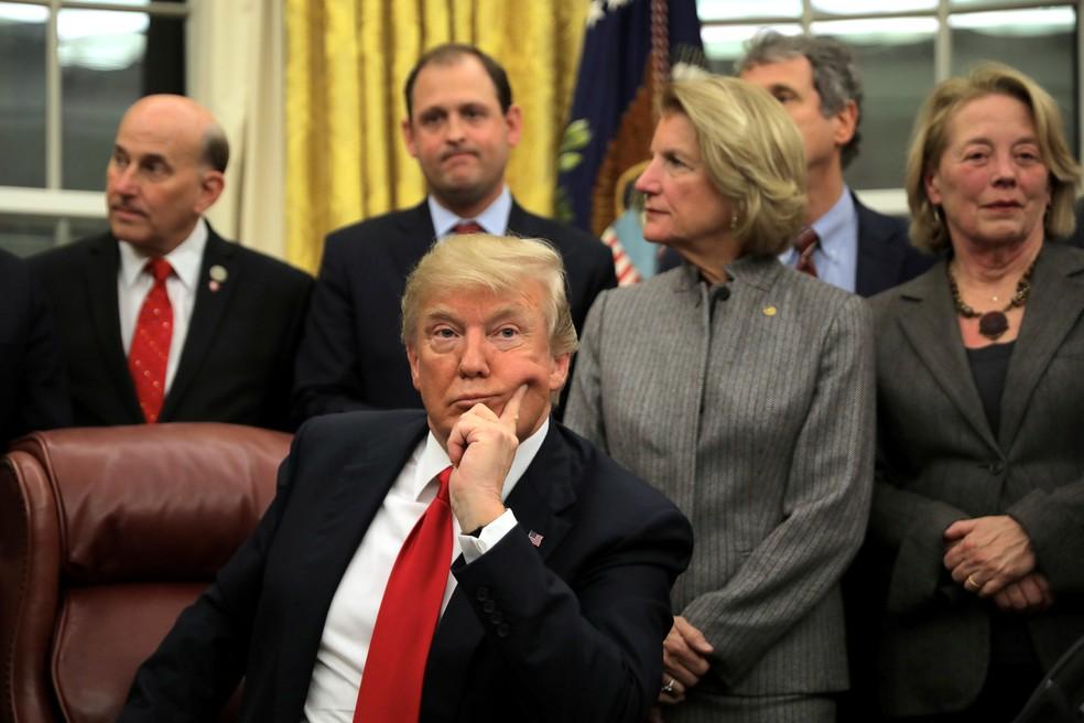 -  O presidente dos EUA Donald Trump.  Foto: Carlos Barria/Reuters