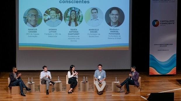 Debate promovido pelo CCLAC2019 reuniu jovens empreendedores conscientes (Foto: Yasmin Dib)