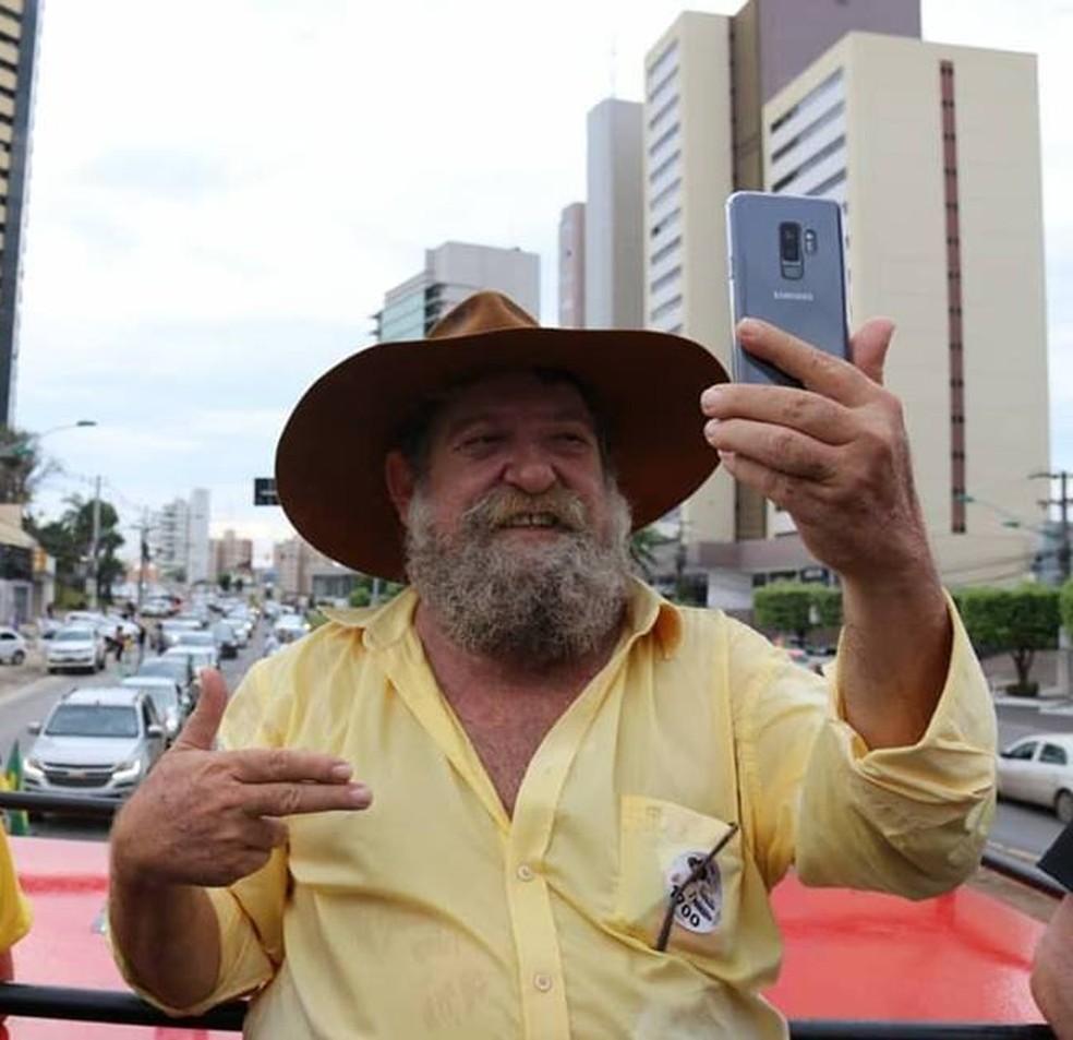 Nelson Barbudo (PSL) foi o candidato a deputado federal por MT mais bem votado  â?? Foto: Facebook/ Reprodução