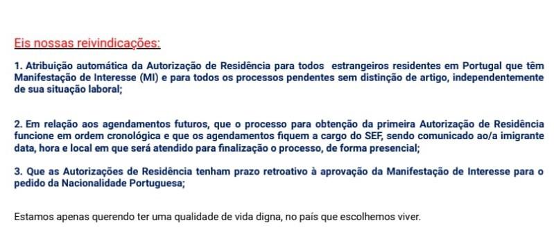 Carta aberta enviada pelo CIP ao MAI
