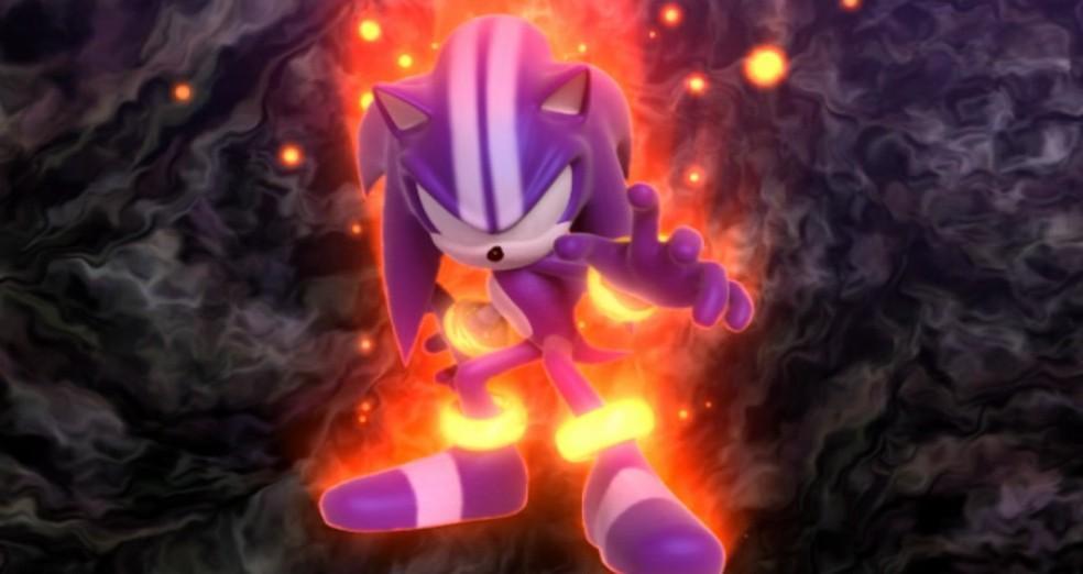 DarkSpine é a nova transformação de Sonic em Sonic and the Secret Rings — Foto: Reprodução/Marcos Silva