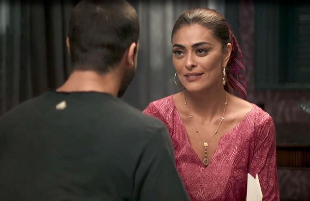 Na quinta (12), Maria da Paz (Juliana Paes) conhecerá Joana (Bruna Hamú), sua suposta filha (Foto: Reprodução)