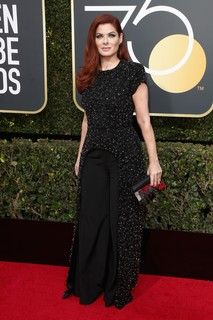Debra Messing veste Christian Siriano