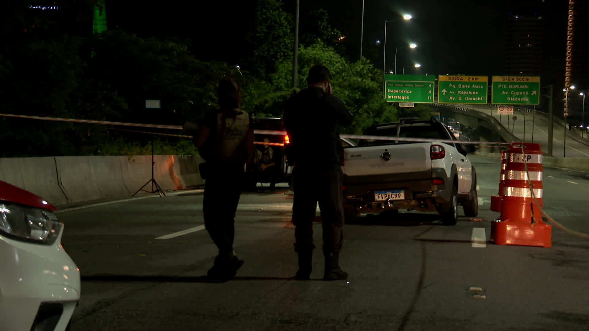 Motorista morre após ser baleado na cabeça na Marginal Pinheiros em SP
