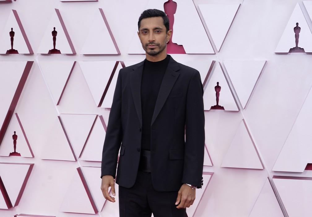 """Riz Ahmed, indicado à melhor ator por """"O Som do Silêncio"""", no Oscar 2021 — Foto: AP Photo/Chris Pizzello"""