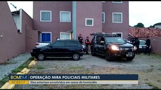 PMs suspeitos de envolvimento em homicídios são presos em operação