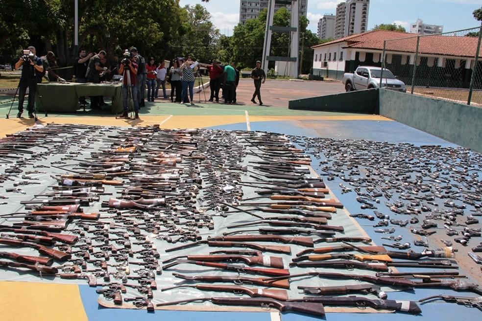 A grande maioria foi apreendida em crimes como roubos, furtos, homicídios e porte ilegal. (Foto: Otmar de Oliveira (F5))