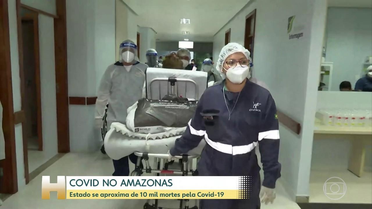 Perto de 10 mil vítimas da Covid, Amazonas tem fila de espera por leitos hospitalares