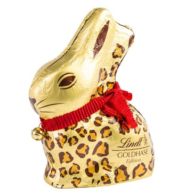 Edição de Páscoa da Lindt: coelho de chococlate Golden Bunny agora vem com animal print (Foto: Divulgação )