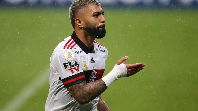 Gabigol, em Grêmio x Flamengo
