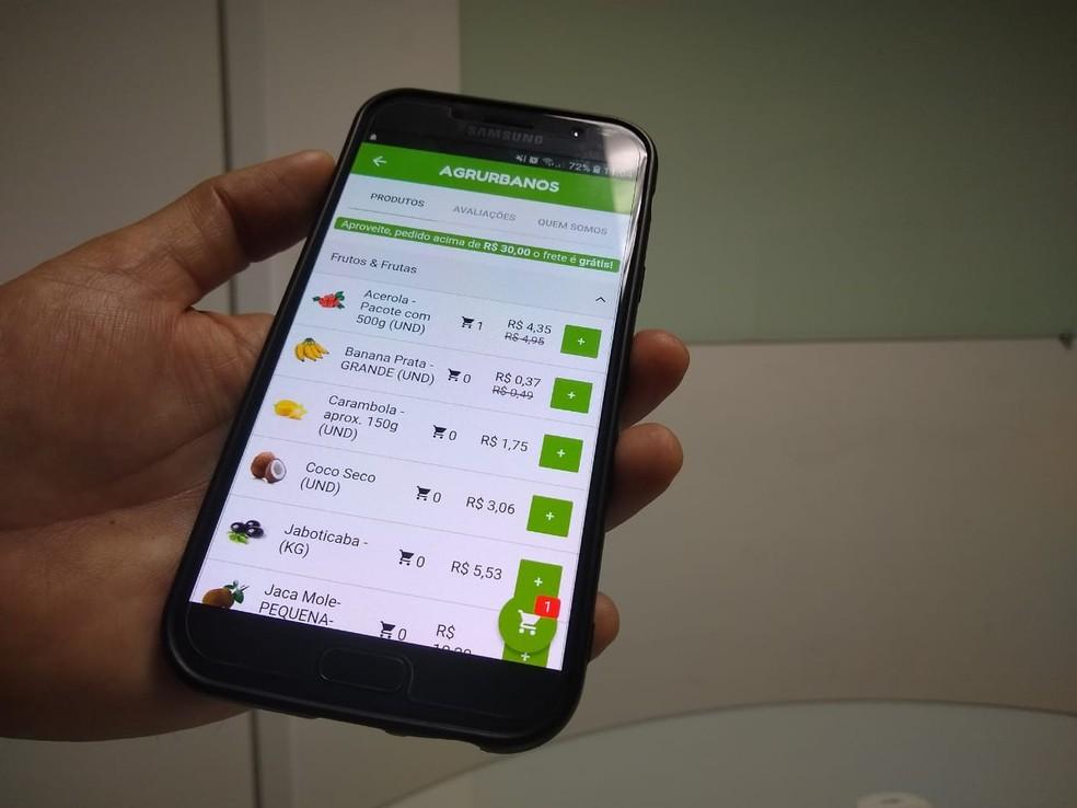Aplicativo potiguar Ifarm liga produtores de alimentos orgânicos a clientes no RN — Foto: Igor Jácome/G1