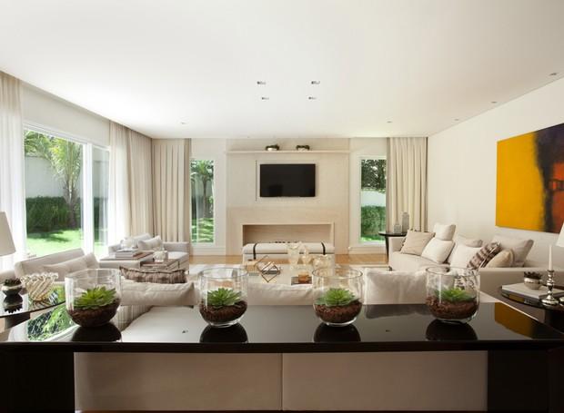 Sala de TV 27 ideias de decoraç u00e3o Casa e Jardim Home theater