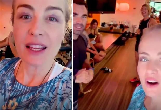 Angélica com Carolina Dieckmann, Grazi Massafera, Chico Salgado e Alex Lerner (Foto: Reprodução/Instagram)