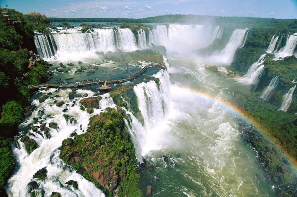 O Parque Nacional do Iguaçu, no Paraná, recebeu 40.553 visitantes nos quatro dias de fim de semana prolongado de carnaval — Foto: Zig Koch/Divulgação