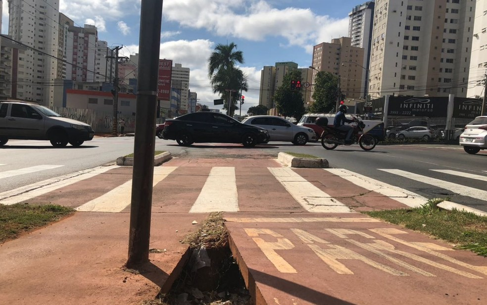 Ciclovia em Goiânia Goiás (Foto: Murillo Velasco/G1)