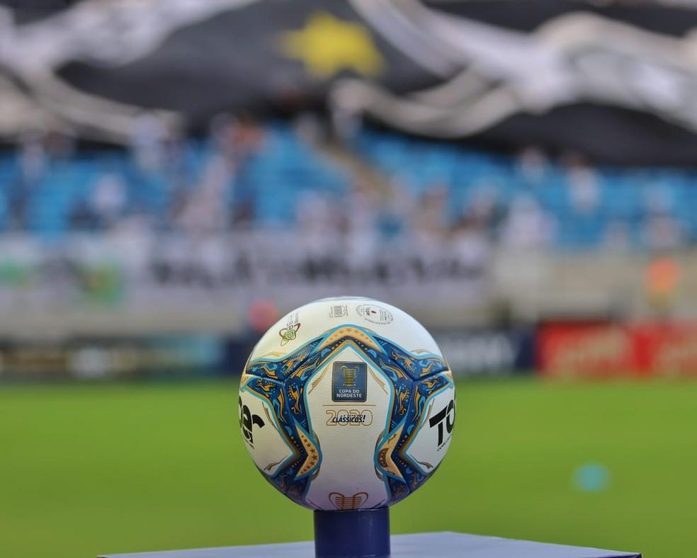 Bola, Copa do Nordeste, TR, ABC, Arena das Dunas — Foto: Luciano Marcos/ABC