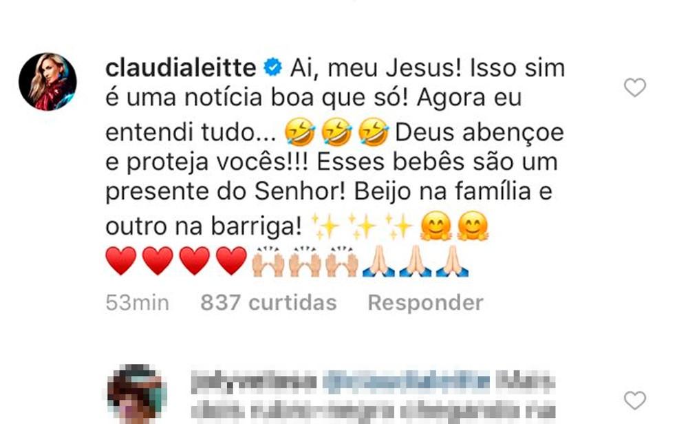 Claudia Leitte foi um dos artistas que comentaram post feito por Ivete Sangalo (Foto: Reprodução/Instagram)