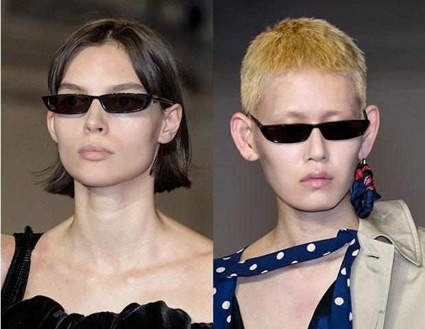 Os óculos finos da Balenciaga (Foto: Imaxtree)