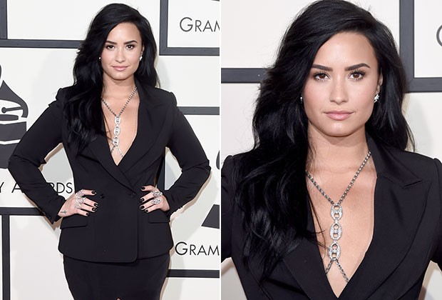 Demi Lovato no Grammy 2016 (Foto: Getty Images)