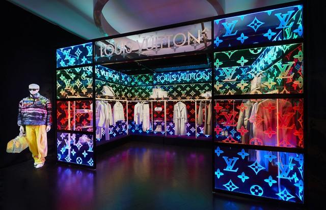 O espaço pop-up da Louis Vuitton em Londres (Foto: Divulgação)