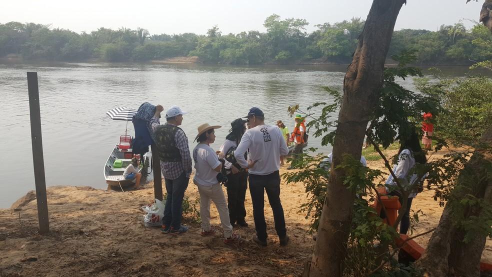 Expedição percorre 60 quilômetros pelo Rio Machado, em Ji-Paraná (Foto: Pâmela Fernandes/G1)
