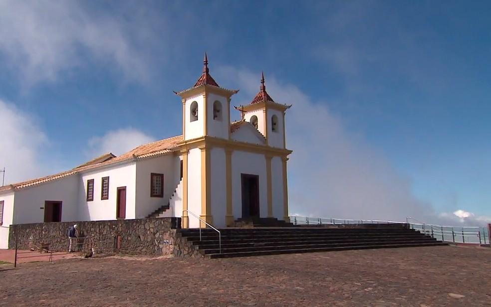 Santuário Nossa Senhora da Piedade, em Caeté — Foto: Reprodução/TV Globo