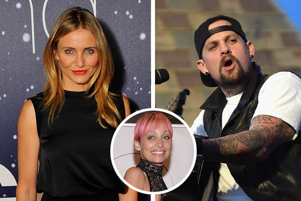 Cameron Diaz, Benji Madden e Nicole Richie (Foto: Getty Images)
