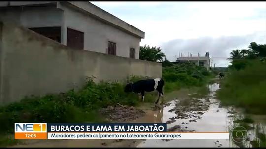 Moradores denunciam buraqueira e lama em rua de loteamento no Conjunto Marcos Freire